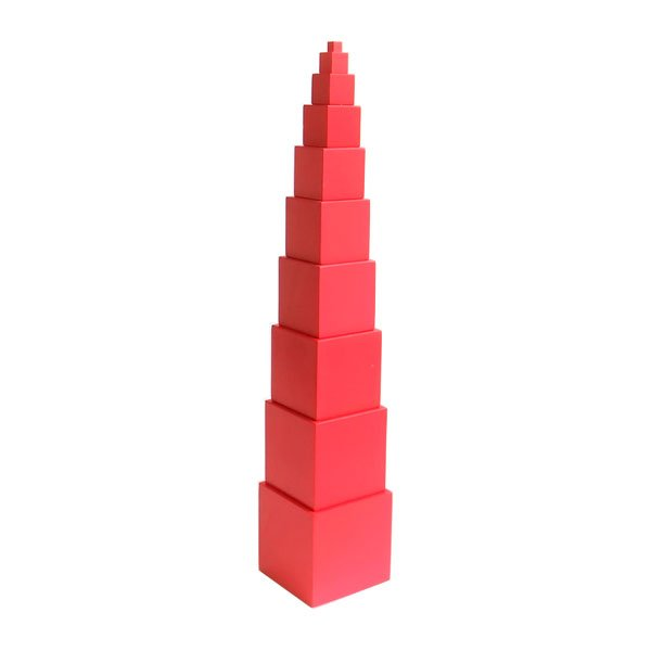 Montessori Materials Pink Tower Learn Dimensions And Sizes