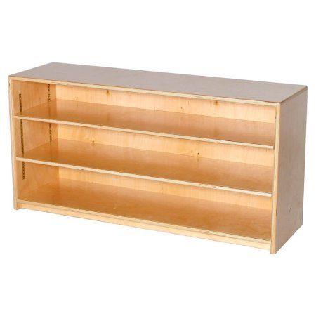Montessori Storage Shelves Close Back Shelves