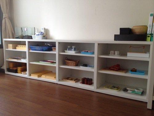 Montessori Low Shelves