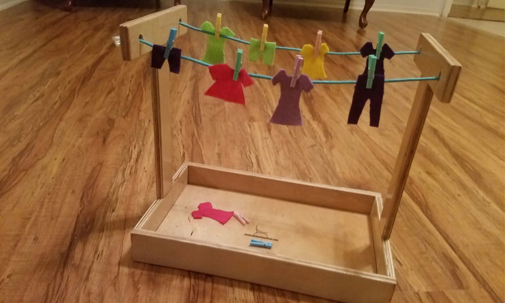 Montessori Practical Life Materials Clothesline Activity