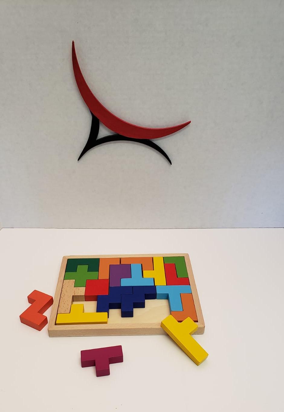Montessori Tetris Puzzle Wooden 3d Blocks Jigsaw Puzzle