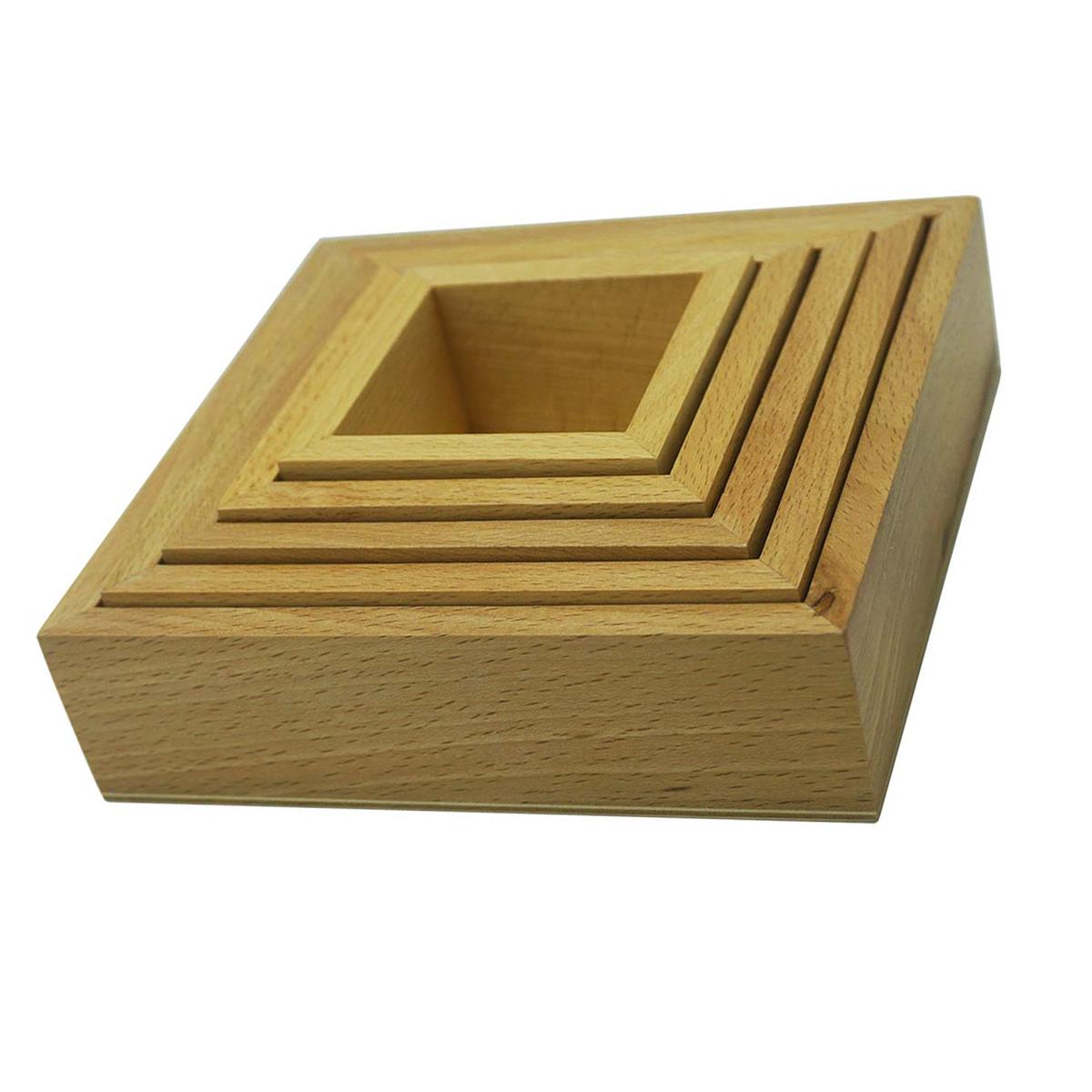 Nesting Boxes Montessori Wooden Nesting Sorting Square